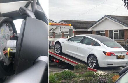 Setir Tesla Model 3 Ini Copot Ketika Dikendarai